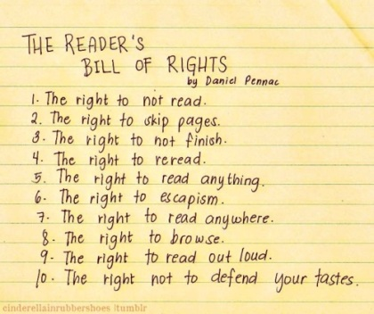 Daniel Pennec's readers bill of rights